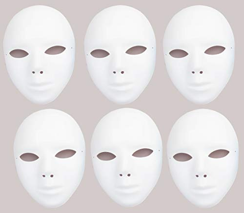 Baker Ross<br /> Mascarillas plásticas en blanco: decorar su