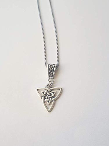 Celtic Knotwork Necklace Triquetra Trinity Knot Stainless Steel Handmade