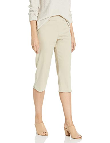 Ruby Rd. Women's Plus-Size Pull-on Extra Stretch Denim Cropped Capri, Chino, 24W