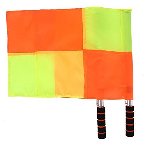 Bandera de árbitro de fútbol de 2 piezas, exquisita mano de obra, bandera de árbitro deportivo con bolsa de almacenamiento, para partidos deportivos, fútbol, fútbol, hockey, entrenamiento