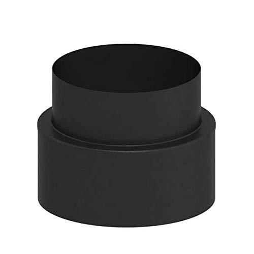 Ø 150 mm Ofenrohr doppelwandig ISO-Line Übergang von Schornstein auf Verbindungsleitung Schwarz