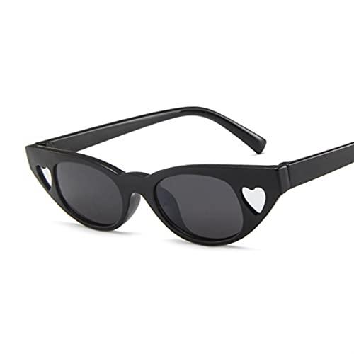 BAYSU Occhiali da Sole Simpatici Signore Sexy Signore Gatto Occhiali da Sole Occhiali da Sole Donne Vintage Piccoli Occhiali da Sole Femminile (Lenses Color : Blackwhite)