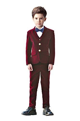 Yanlu Suits for Boys,Toddler Boy Tuxedo Velvet Suit 5 Piece...