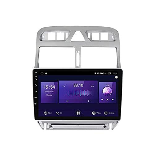 Coche Radio Stéreo Sat nav Para Peu-geot 307 2002-2013 Android 10.0 GPS Navegación Multimedia Player Pantalla Táctil Soporte 4G+Wifi/SWC/Carplay/Bluetooth/enlace espejo,4 Core 4G+WiFi: 2+32GB