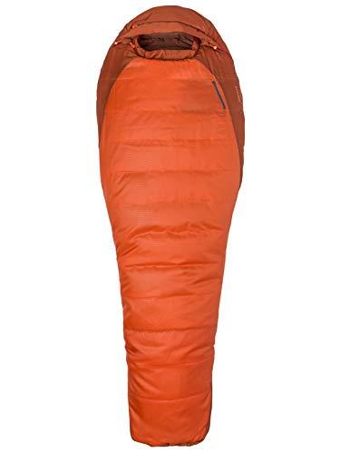 Marmot Erwachsene Schlafsack Trestles 0, Orange Haze/Dark Rust, LZ, 23560-9318-L