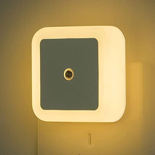 Lixada 8PCS Plug-in LED Night Light con Auto Dusk to Dawn Sensores Control de iluminación Luz Nocturna para escaleras de Dormitorio Cocina Pasillo