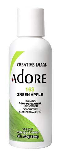 Adore Semi-Permanent Haircolor #163 Green Apple 4 Ounce (118ml)