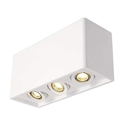 SLV Deckenaufbauleuchte PLASTRA BOX / Spot, Fluter, Deckenstrahler, Deckenleuchte, Aufbau-Leuchte, Innen-Beleuchtung / GU10 35.0W weiß