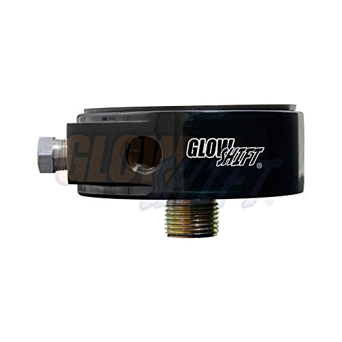 GlowShift Oil Filter Sandwich Plate Thread Adapter - 20mm x 1.5 Thread - Install up to (4) 1/8-27 NPT Oil Pressure & Temperature Sensors - Includes O-Ring & Port Plugs