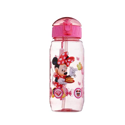 Water bottle Minnie Mouse Cartoon Cups With Straw Bottles Girls Princess Feeding Cups