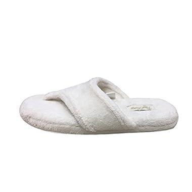 Thong Slippers for Women with Comfortable Plush Velvet Lining Flip Flop Slipper (S, Cream)
