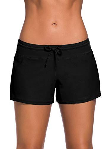 Yidarton Damen Badeshorts Badehose Shorts Strand Wassersport Boardshorts Schwimmhose Bikinihose S-3XL