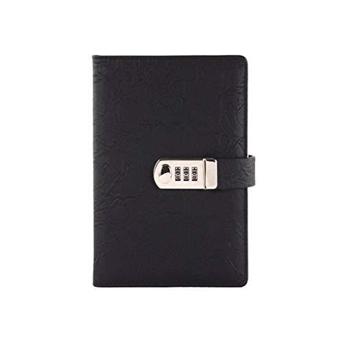 YLLAND Cuaderno clásico A6 Password Lock Portátil Logebook Locking Locking para el Diario Secreto Personal 5.8