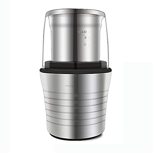 MXJY Molinillo de café, Molinillo de Especias, 2 en 1 Húmedo y seco Doble Tazas de Doble Tazas eléctricas 300W y Amoladora de Frijol de café, Cuerpo de Acero Inoxidable