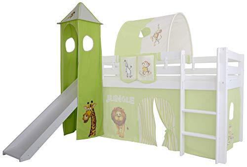 Mobi Furniture Turm Dschungel für Hochbett Höhle Spielturm Etagenbett Spielbett Kinderbett