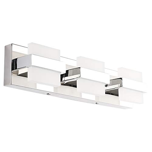 SOLFART LED Modern Bathroom Vanity Lights Over Mirror 3 Lights Acrylic Stainless -