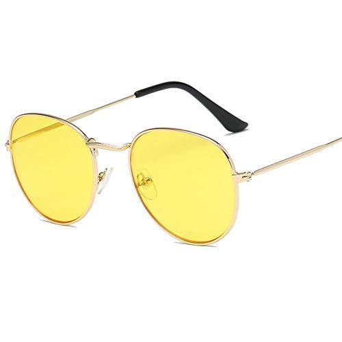 Gafas De Sol Hombre Mujeres Ciclismo Round Sunglasses Men Round Metal Mens Sunglass Retro Glasses Sunglasses Women-Xxy3546_C5