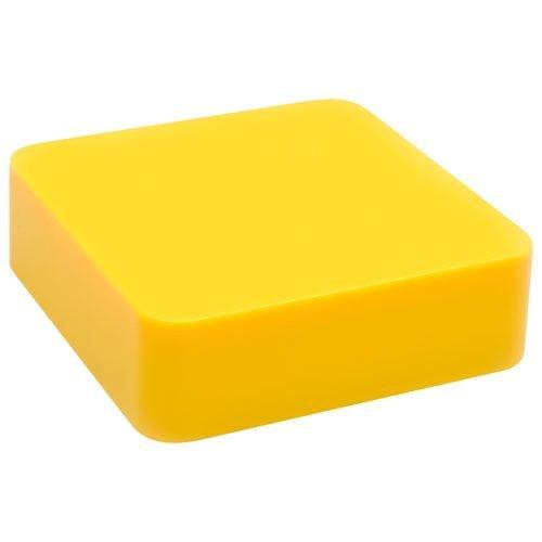 YE!! Energy Square - Batería externa para smartphones y iPhone/iPod (2000 mAh), color amarillo