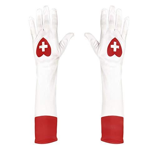 Widmann 02423 - Lange Handschuhe weiß, für Krankenschwester