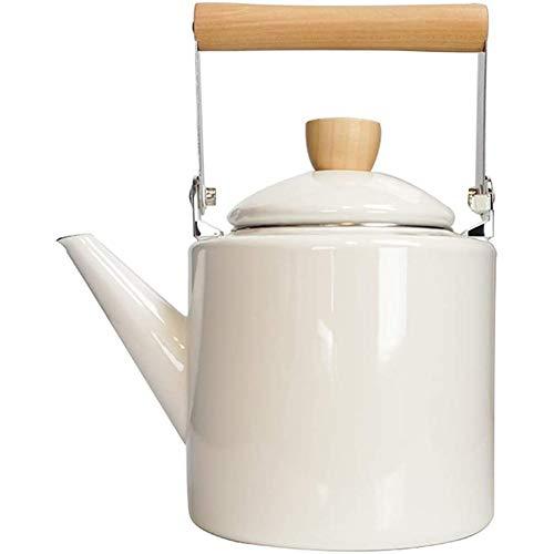 Cocina de induccion, Hervidor de Agua, Acero inoxidable, Hervidor Domestico Pequeno,Blanco