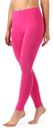 Merry Style Damen Lange Leggings aus Viskose MS10-143 (Rosa, M)