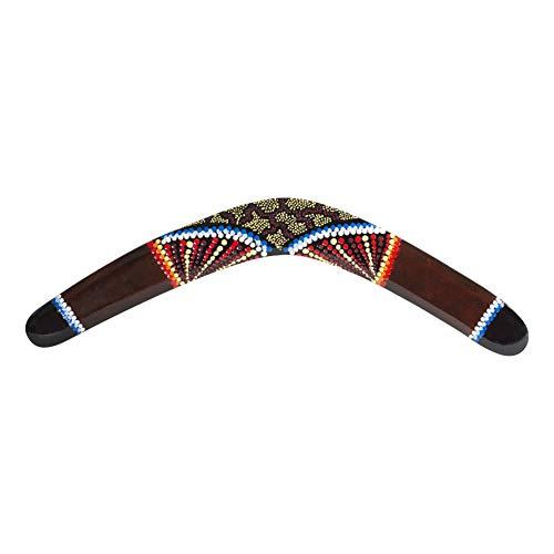 Australian Treasures - Boomerang: Boomerang de Madera Hecho a Mano de 50 cm