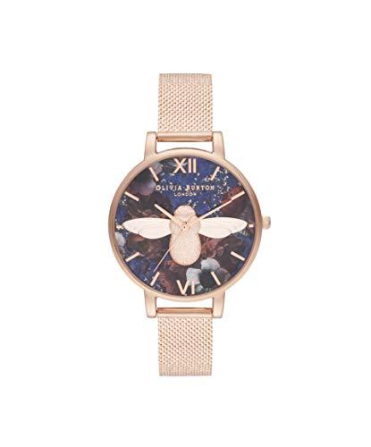 Olivia Burton Damen Analog Quarz Uhr mit Edelstahl Armband OB16SP11