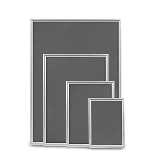 DWA Top Artikel DIN A1 A2 A3 A4 Wechselrahmen Klapprahmen Plakatrahmen Bilderrahmen Posterrahmen Infotafel Werbetafel Silber Aluminium 25 mm Klemmprofil Ecken auf Gehrung (1, A4)
