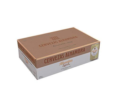 Alhambra - Especial - Cerveza Dorada Lager, 5.4% Volumen de Alcohol, Pack de 24 x 33 cl