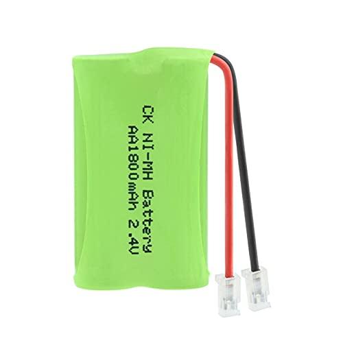 goubes Paquete De Batería Recargable Ni Mh De 2.4v 1800mah 2 * Pilas AA, Paquete De Conector Universal para Sus Dispositivos