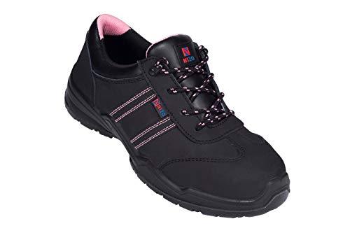 Nizo Arbeitsschuhe 100 S1 - Sicherheitsschuhe Damenschuhe Schutzschuhe mit Stahlkappe Arbeitssneaker für Frauen (38)