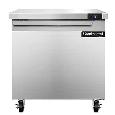 "Continental Refrigerator SWF32 Single Section Work Top Freezer 32""W"
