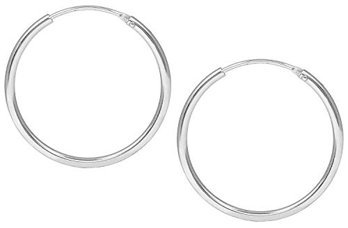 Jukserei Damen Ohrringe Hoop Earrings Silber - Creole Silber - JUK-ESM102s
