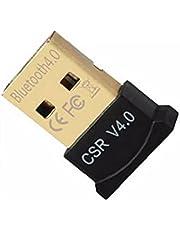 Bluetooth 4.0 USB Low Energy Micro Adapter Dongle voor PC met Windows 10/8.1/8/7 / Vista/XP Raspberry Pi Linux en Stereo Headset Compatibel (Zwart) Praktische Daily Necessities