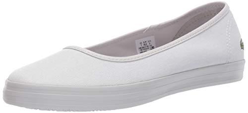 Lacoste Women's Ziane Ballet Sneaker, Light Grey/Light Grey, 8.5 Medium US