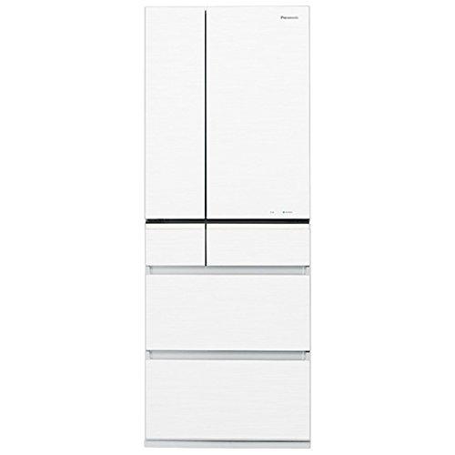 パナソニック 501L 6ドア冷蔵庫(スノーホワイト)Panasonic エコナビ NR-F511PV-W
