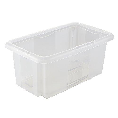keeeper Aufbewahrungsbox mit Dreh-/Stapelsystem, 35 x 20,5 x 15 cm, 7 l, Emil, Transparent