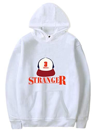 Silver Basic Donna Felpa con Cappuccio Ispirato da TV Series Stranger Things Hawkins Middle School Cotone Hoodie Manica Lunga