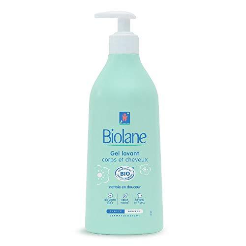Biolane - Gel lavant 2 en 1 BIO - Nettoie en douceur le corps et les cheveux de bébé - 500 ml