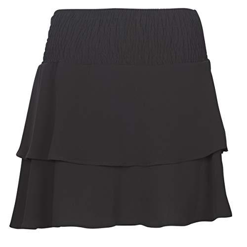 ONLY NOS Damen Onlmariana Myrina Layered Skirt WVN Rock, Schwarz (Black), (Herstellergröße: 40)