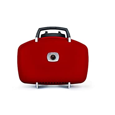 Napoleon TravelQ 285 Portable Gas Grill with Griddle, Red