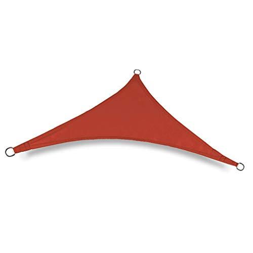 RHNE Toldo al Aire Libre Rojo 4 * 4 * 4M de la protección de la sombrilla del triángulo del Refugio del Sol Impermeable
