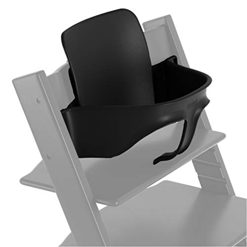 TRIPP TRAPP® Baby Set para niños a partir de los 6 meses │ Accesorio de bebé para la silla evolutiva de STOKKE® │ Respaldo ergonómico │ Color: Negro