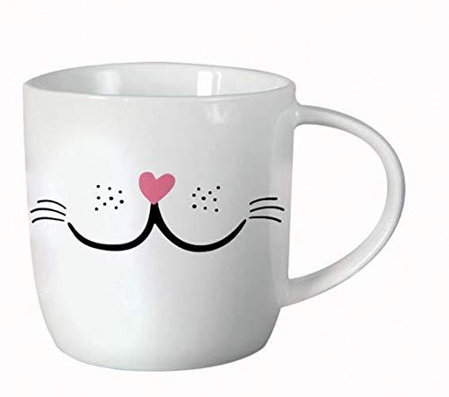 Grafik Werkstatt Kaffee-Tasse fürs Büro| 300 ml | Porzellan Tasse zum verschenken | Katze