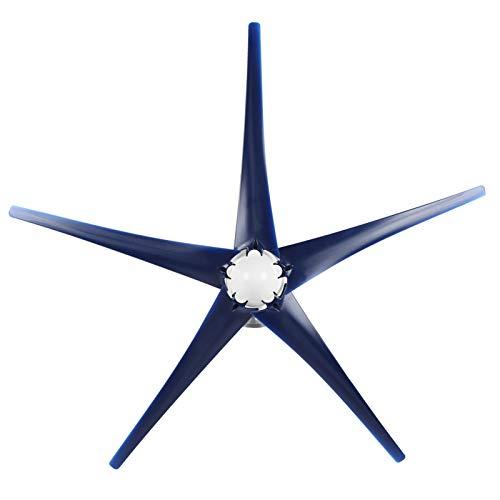 SALUTUYA Generador de turbinas eólicas -40 ℃ -80 ℃ Kit de turbinas eólicas para Carga doméstica Marina para(Blue, 24V)