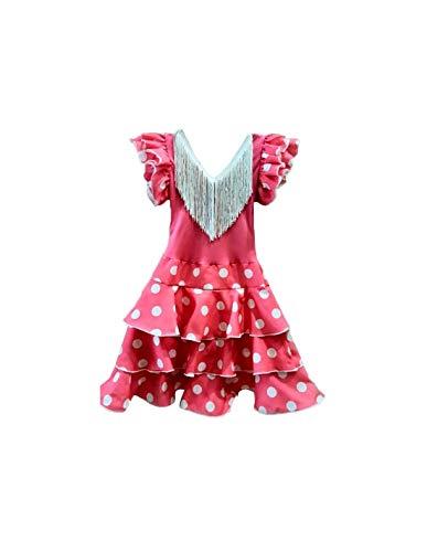 DISBACANAL Vestido andaluza Rosa para niña - -, 12 Meses