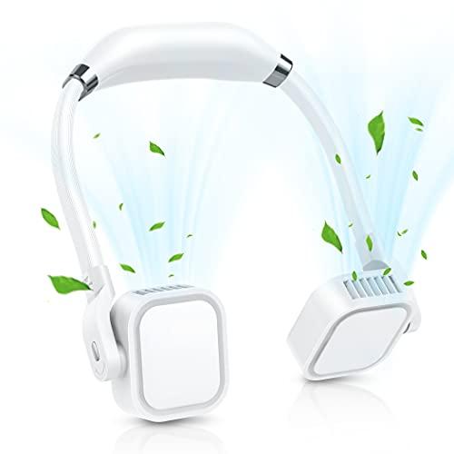 Tragbarer Ventilator, Hanging Neck Fan mit 3 Geschwindigkeiten, persönlicher Ventilator, USB-Tischventilato Mini Lüfter für Büro, Reisen, Sport, Haushalt, Outdoor