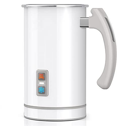 Elektrisch Milchaufschäumer 500ml 650w Edelstahl Automatischer Milchschäumer Erhitzen und Aufschäumen für heiße und kalte Milch LED Anzeige Leuchten