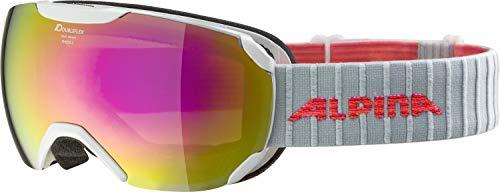ALPINA Unisex– Erwachsene PHEOS S HM Ski & Snowboardbrillen, pearlwhite, One Size