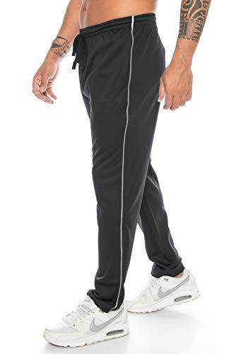Raff & Taff - Pantalones de deporte para hombre, para el día a día, fútbol, tiempo libre, clásicos, tallas grandes hasta 6XL Negro (Sd002). XL